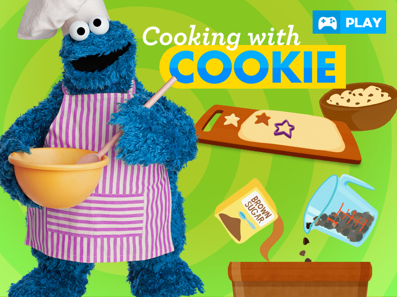 Cooking with Cookie Sesame Street game
