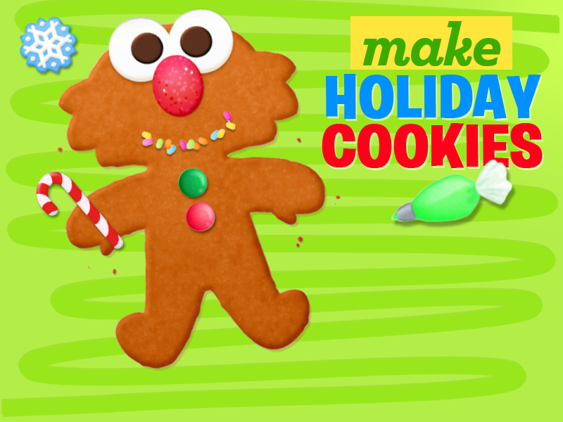 Holiday Cookies Sesame Street Art Maker