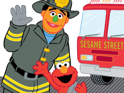 Sesame Street Fire Safety Coloring Book | Coloring Pages