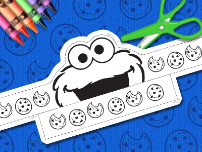 picture about Printable Cookie Monster Face identified as Sesame Road Printables