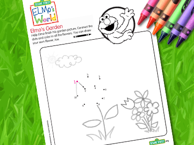 Elmo's World: Elmo's Garden Printable
