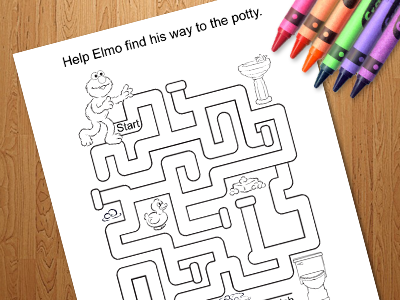 Potty Training Maze with Elmo