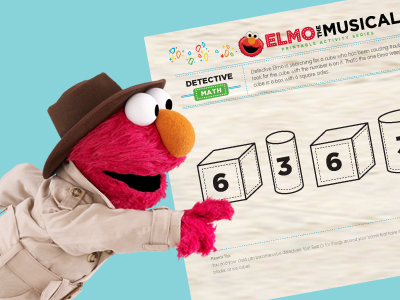 Elmo the Musical: Detective Elmo Math Printable Activity