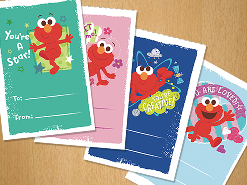 Elmos World Compliment Cards