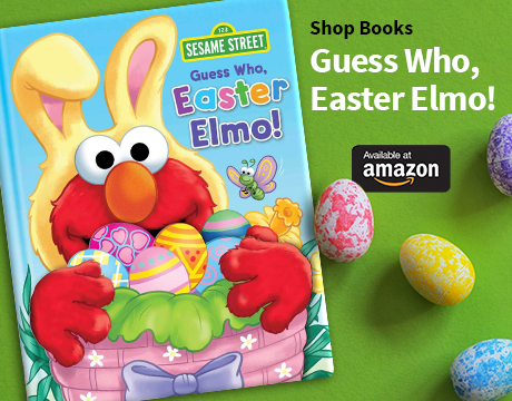 Guess Who, Easter Elmo! From Amazon