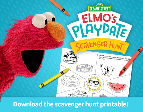 Elmo's Playdate Scavenger Hunt Printable | Click to Download and Print
