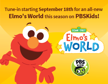 Tune in September 18th for an all new Elmo's World on PBSKids