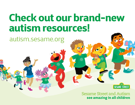 Brand New Autism Resources online at Autism.sesamestreet.org