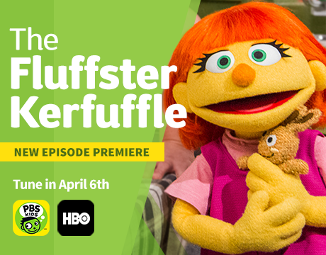 Sesame Street Celebrates Autism Awareness Month with more Julia | Monday, April 6th PBS and HBO
