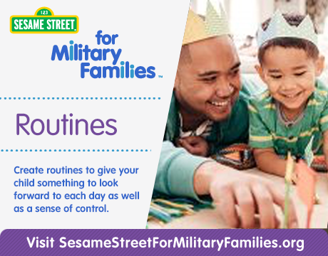 Sesame Street for Military Families: Routines | Learn More
