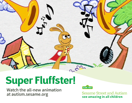 Super Fluffster Animation | Watch on Sesame Street and Autism